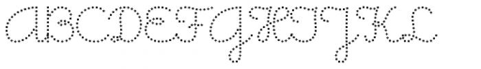 Memimas Dots Font UPPERCASE