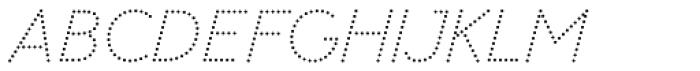 Memimas Pro Dots Italic Font UPPERCASE