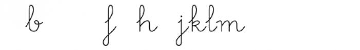 Memimas Regular Ligatures Font LOWERCASE