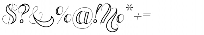 Memoriam Pro Inline Font OTHER CHARS