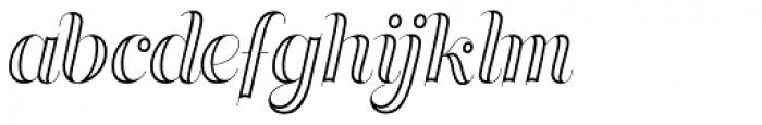 Memoriam Pro Inline Font LOWERCASE
