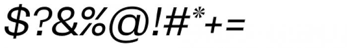 Mena Grotesk Regular Italic Font OTHER CHARS