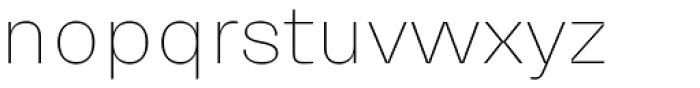 Mena Grotesk Thin Font LOWERCASE