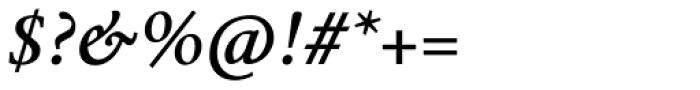 Mengelt Basel Antiqua Paneuropean Bold Italic Font OTHER CHARS