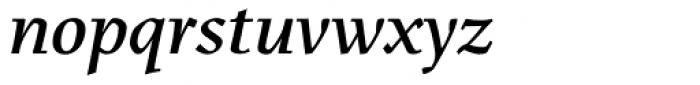 Menhart Display Bold Italic Font LOWERCASE