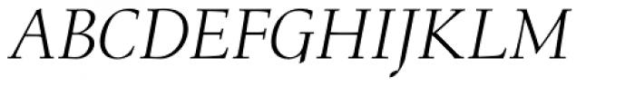 Menhart Pro Display Italic Font UPPERCASE