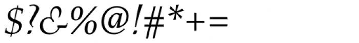 Menhart Pro Italic Font OTHER CHARS