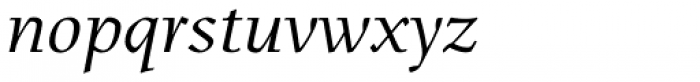 Menhart Pro Italic Font LOWERCASE