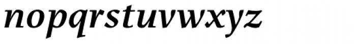 Menhart Std Bold Italic Font LOWERCASE