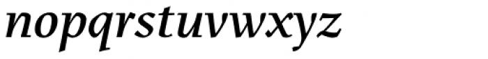 Menhart Std Display Bold Italic Font LOWERCASE
