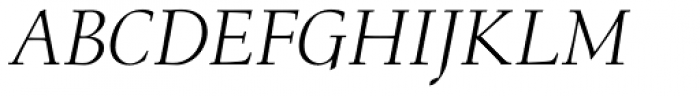 Menhart Std Display Italic Font UPPERCASE