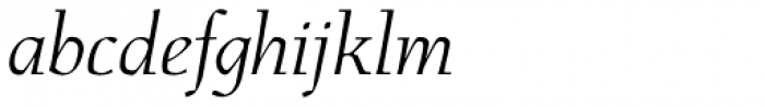 Menhart Std Display Italic Font LOWERCASE
