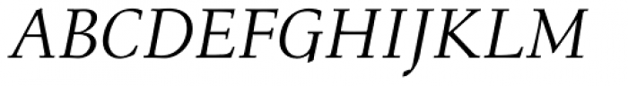 Menhart Std Italic Font UPPERCASE
