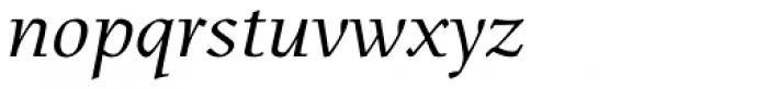 Menhart Std Italic Font LOWERCASE