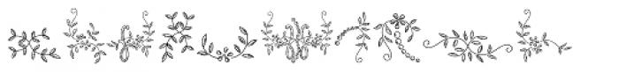 Menina Poderosa Ornaments Font LOWERCASE