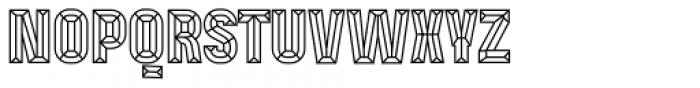 Mensrea Bevel Font UPPERCASE
