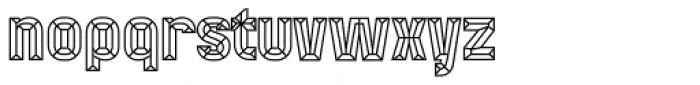 Mensrea Bevel Font LOWERCASE
