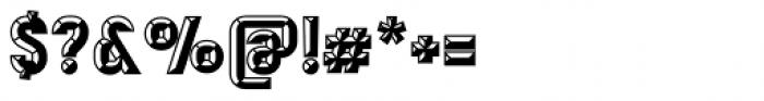 Mensrea Bevelshade Font OTHER CHARS