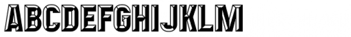 Mensrea Bevelshade Font UPPERCASE