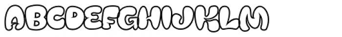 Mensrea Bubbleline Font UPPERCASE