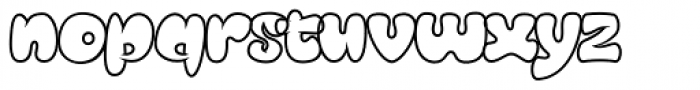 Mensrea Bubbleline Font LOWERCASE