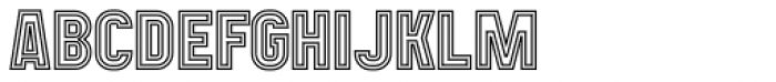 Mensrea Duoline Font UPPERCASE