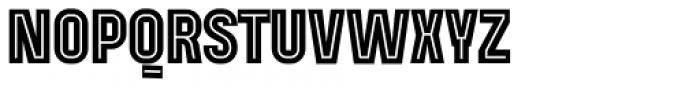 Mensrea Inline Font UPPERCASE