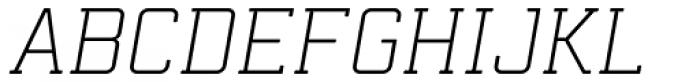 Mensura Slab Light Italic Font UPPERCASE