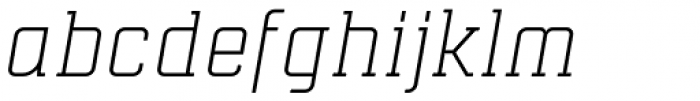 Mensura Slab Light Italic Font LOWERCASE
