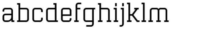 Mensura Slab Font LOWERCASE