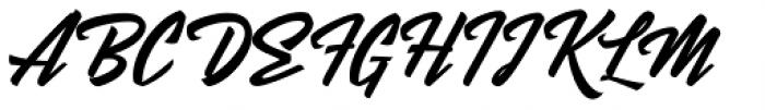Mentari Font UPPERCASE