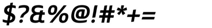 Mentone SemiBold Italic Font OTHER CHARS