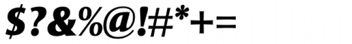 Mentor Sans Black Italic Font OTHER CHARS