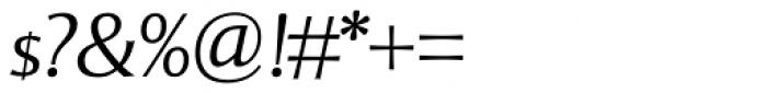 Mentor Sans Light Italic Font OTHER CHARS