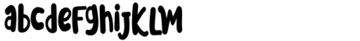 Meoowly Regular Font LOWERCASE