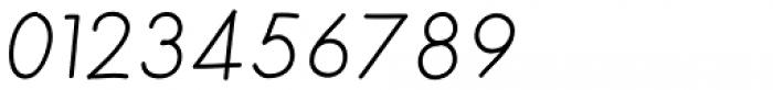 Merendina Light Slanted Font OTHER CHARS