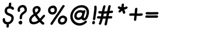 Merendina Medium Slanted Font OTHER CHARS