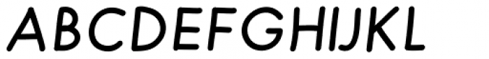 Merendina Medium Slanted Font UPPERCASE