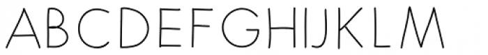 Merendina Thin Font UPPERCASE