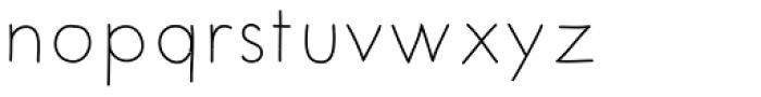 Merendina Thin Font LOWERCASE