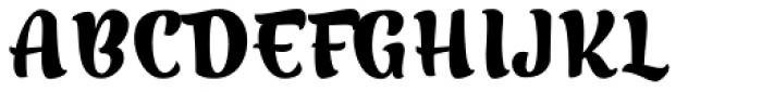 Merengue Script Basic Font UPPERCASE