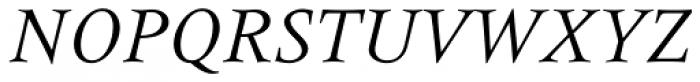 Meridien Italic Font UPPERCASE