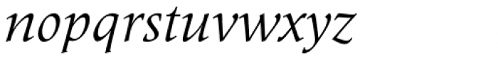 Meridien Italic Font LOWERCASE