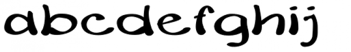Merilee Expanded Bold Font LOWERCASE