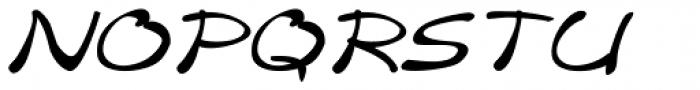 Merilee Expanded Italic Font UPPERCASE