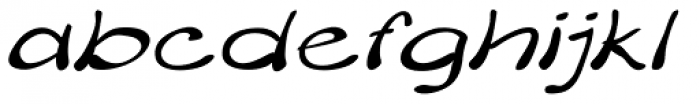 Merilee Expanded Italic Font LOWERCASE