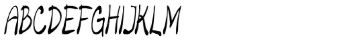 Merilee Extracondensed Italic Font UPPERCASE