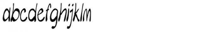 Merilee Extracondensed Italic Font LOWERCASE