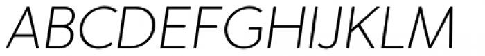 Merlo Neue Round Extra Light Italic Font UPPERCASE