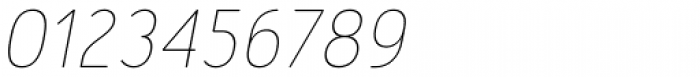Merlo Round Thin Italic Font OTHER CHARS